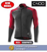 C400 メンズロングスリーブジャージ Red/Graphite