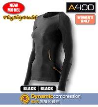 【FlagshipNewModel】A400ウィメンズロングスリーブトップBlack/Black