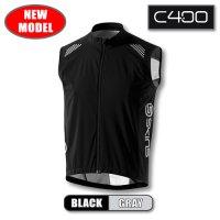 C400 メンズウィンドベスト Black/Grey