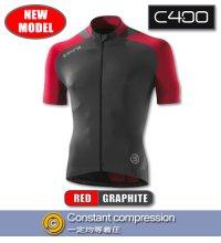 C400 メンズショートスリーブジャージ Red/Graphite