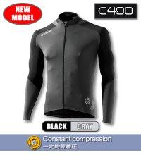 C400 メンズロングスリーブジャージ Black/Grey