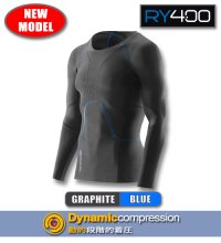 RY400メンズロングスリーブ Graphite/Blue