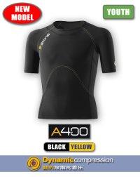 A400 ユースショートスリーブ Black/Yellow