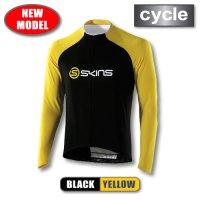 CYCLE-PRO メンズ ロングスリーブジャージ Black/Yellow