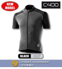 C400 メンズショートスリーブジャージ Black/Grey