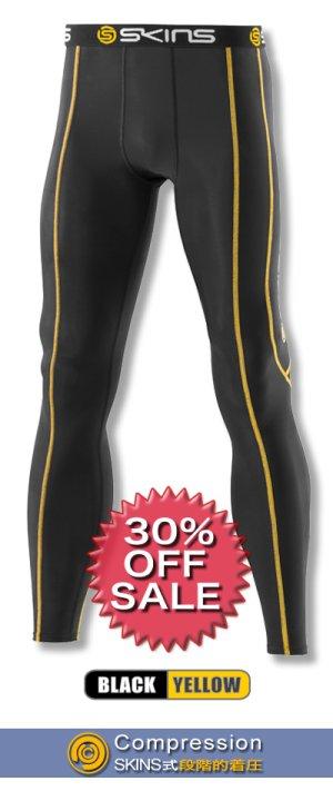 画像1: *30%OFF*SPORTロングタイツ black/yellow