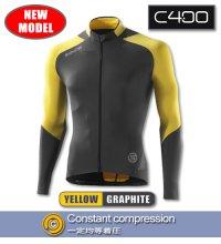 C400 メンズロングスリーブジャージ Yellow/Graphite