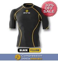 *30%OFF*SPORTショートスリーブトップ black/yellow